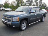 2011 Blue Granite Metallic Chevrolet Silverado 1500 LT Crew Cab 4x4 #53982324