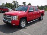 2011 Victory Red Chevrolet Silverado 1500 LT Crew Cab 4x4 #53982323