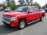 2011 Victory Red Chevrolet Silverado 1500 LT Crew Cab #53982321