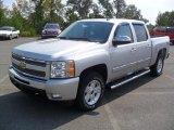 2011 Sheer Silver Metallic Chevrolet Silverado 1500 LT Crew Cab 4x4 #53982319