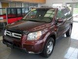 2007 Dark Cherry Pearl Honda Pilot EX-L 4WD #53982261