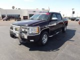2008 Dark Cherry Metallic Chevrolet Silverado 1500 LT Crew Cab 4x4 #53981076