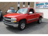 2002 Victory Red Chevrolet Silverado 1500 LS Regular Cab 4x4 #53983213