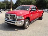 2012 Flame Red Dodge Ram 3500 HD Laramie Longhorn Crew Cab 4x4 Dually #53982178