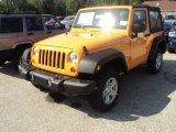 2012 Dozer Yellow Jeep Wrangler Sport 4x4 #53982172