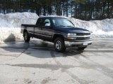 2002 Indigo Blue Metallic Chevrolet Silverado 1500 LS Extended Cab 4x4 #5400647