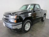 2007 Black Chevrolet Silverado 1500 Classic Work Truck Regular Cab 4x4 #53981020