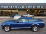 2007 Vista Blue Metallic Ford Mustang V6 Deluxe Coupe #53980987