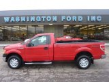 2010 Vermillion Red Ford F150 XL Regular Cab 4x4 #53980984