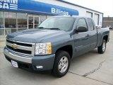 2007 Blue Granite Metallic Chevrolet Silverado 1500 LT Extended Cab #53982092