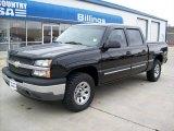 2005 Black Chevrolet Silverado 1500 LS Crew Cab 4x4 #53982091