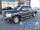 2007 Blue Granite Metallic Chevrolet Silverado 1500 LT Crew Cab 4x4 #53982076