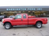2012 Vermillion Red Ford F250 Super Duty XLT SuperCab 4x4 #53980937