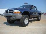 2004 Patriot Blue Pearl Dodge Dakota SLT Quad Cab 4x4 #53981998