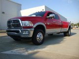 2012 Flame Red Dodge Ram 3500 HD Laramie Crew Cab 4x4 Dually #53981963