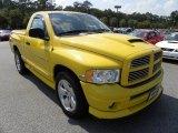 2005 Solar Yellow Dodge Ram 1500 SLT Rumble Bee Regular Cab #53980774