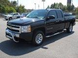 2009 Black Chevrolet Silverado 1500 LS Extended Cab 4x4 #53982658