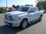 2012 Bright White Dodge Ram 1500 Laramie Crew Cab 4x4 #53982653