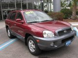 2004 Merlot Red Hyundai Santa Fe LX #5384502