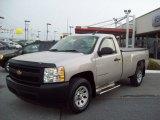 2008 Silver Birch Metallic Chevrolet Silverado 1500 Work Truck Regular Cab 4x4 #53981581