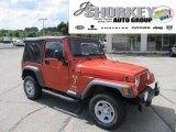 2006 Impact Orange Jeep Wrangler X 4x4 #53981440