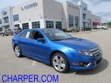 2011 Blue Flame Metallic Ford Fusion Sport #54202424