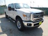 2012 White Platinum Metallic Tri-Coat Ford F250 Super Duty Lariat Crew Cab 4x4 #54204047