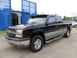 2003 Black Chevrolet Silverado 1500 Z71 Extended Cab 4x4 #54203125