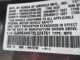 2011 CR-V Color Code for Polished Metal Metallic - Color Code: NH737M