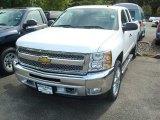 2012 Summit White Chevrolet Silverado 1500 LT Extended Cab 4x4 #54202319