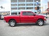 2010 Inferno Red Crystal Pearl Dodge Ram 1500 Big Horn Quad Cab 4x4 #54203522