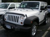 2012 Bright White Jeep Wrangler Sport S 4x4 #54202462