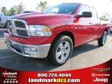 2012 Flame Red Dodge Ram 1500 Big Horn Quad Cab #54230351