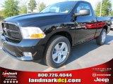 2012 Black Dodge Ram 1500 Express Regular Cab #54230349
