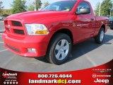 2012 Flame Red Dodge Ram 1500 Express Regular Cab #54230347