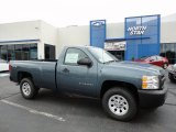 2012 Blue Granite Metallic Chevrolet Silverado 1500 Work Truck Regular Cab 4x4 #54242072