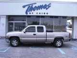 2001 Medium Charcoal Gray Metallic Chevrolet Silverado 1500 LS Extended Cab 4x4 #54256605