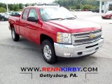 2012 Victory Red Chevrolet Silverado 1500 LT Extended Cab 4x4 #54256524