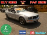 2005 Satin Silver Metallic Ford Mustang V6 Premium Convertible #54257111
