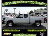 2011 Sheer Silver Metallic Chevrolet Silverado 1500 LS Extended Cab 4x4 #54257542