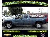 2011 Blue Granite Metallic Chevrolet Silverado 1500 LS Extended Cab 4x4 #54257534