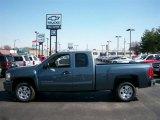 2011 Blue Granite Metallic Chevrolet Silverado 1500 LT Extended Cab #54257512