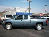 2011 Blue Granite Metallic Chevrolet Silverado 1500 LT Extended Cab 4x4 #54257507
