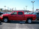 2011 Victory Red Chevrolet Silverado 1500 LT Crew Cab 4x4 #54257500