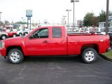 2011 Victory Red Chevrolet Silverado 1500 LT Extended Cab 4x4 #54257495