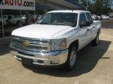 2012 White Diamond Tricoat Chevrolet Silverado 1500 LT Crew Cab 4x4 #54257014