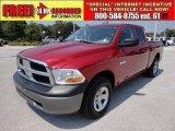 2009 Inferno Red Crystal Pearl Dodge Ram 1500 ST Quad Cab 4x4 #54256974