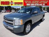 2009 Blue Granite Metallic Chevrolet Silverado 1500 LT Extended Cab #54256963