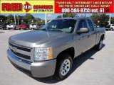 2008 Graystone Metallic Chevrolet Silverado 1500 Work Truck Extended Cab #54256960