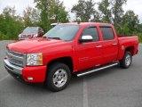 2011 Victory Red Chevrolet Silverado 1500 LT Crew Cab #54256912